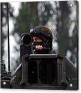 Tank Commander Of A Leopard 1a5 Mbt Acrylic Print by Luc De Jaeger