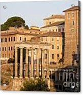 Temple Of Saturn In The Forum Romanum. Rome Acrylic Print by Bernard Jaubert