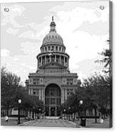 Texas Capitol Bw10 Acrylic Print by Scott Kelley