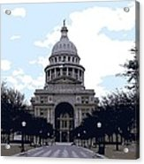 Texas Capitol Color 6 Acrylic Print by Scott Kelley