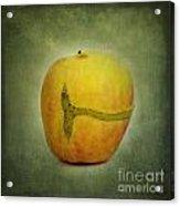Textured Apple Acrylic Print by Bernard Jaubert