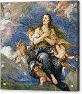 The Assumption Of Mary Magdalene Acrylic Print by Jose Antolinez