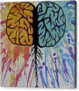 The Brain Acrylic Print by Holly Hunt