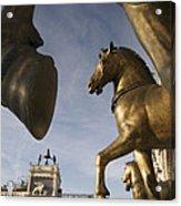 The Horses On The Basilica San Marcos Acrylic Print by Jim Richardson