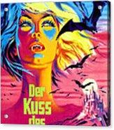 The Kiss Of The Vampire, Aka Kiss Of Acrylic Print by Everett