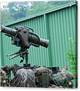The Milan, Guided Anti-tank Missile Acrylic Print by Luc De Jaeger