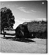 the old leanach cottage on Culloden moor battlefield site highlands scotland Acrylic Print by Joe Fox
