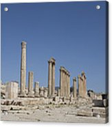 The Oval Plaza In The Ruins Acrylic Print by Taylor S. Kennedy