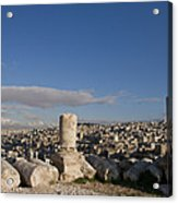 The Ruins Of The Ancient Citadel, Or Acrylic Print by Taylor S. Kennedy
