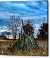 The Woodstack Acrylic Print by Julie Dant