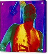 Thermogram Of A Man Taking A Shower Acrylic Print by Dr. Arthur Tucker