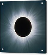 Total Solar Eclipse With Corona Acrylic Print by Dr Fred Espenak