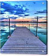 Tranquil Dock Acrylic Print by Scott Mahon