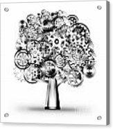 Tree Of Industrial Acrylic Print by Setsiri Silapasuwanchai