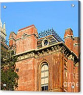 Uc Berkeley . South Hall . Oldest Building At Uc Berkeley . Built 1873 . The Campanile In The Back Acrylic Print by Wingsdomain Art and Photography