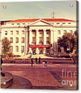 Uc Berkeley . Sproul Hall . Sproul Plaza . Occupy Uc Berkeley . 7d9994 Acrylic Print by Wingsdomain Art and Photography
