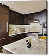 Upscale Kitchen Interior Acrylic Print by Andersen Ross