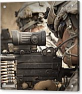 U.s. Army Rangers In Afghanistan Combat Acrylic Print by Tom Weber