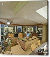 Usa Hi Honolulu Upscale Living Room Acrylic Print by Rob Tilley