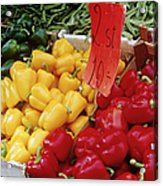 Vegetables At Market Stand Acrylic Print by Jeremy Woodhouse