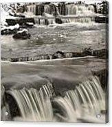Waterfalls With Fresh Snow Thunder Bay Acrylic Print by Susan Dykstra