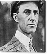 Wilbur Wright, Us Aviation Pioneer Acrylic Print by Science, Industry & Business Librarynew York Public Library