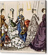 Womens Fashions From Godeys Ladys Book Acrylic Print by Everett