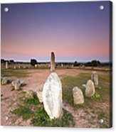 Xarez Cromlech Uring The Sunset Acrylic Print by Andre Goncalves