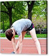 Stretching Exercises Acrylic Print by Photo Researchers