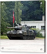 The Leopard 1a5 Of The Belgian Army Acrylic Print by Luc De Jaeger