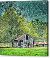 1209-1298 - Boxley Valley Barn 2 Acrylic Print by Randy Forrester