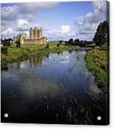 12th Century Trim Castle, On The River Acrylic Print by The Irish Image Collection