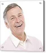 Happy Senior Man Acrylic Print by