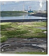 Oil Industry Pollution Acrylic Print by David Nunuk