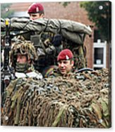 A Recce Or Scout Team Of The Belgian Acrylic Print by Luc De Jaeger