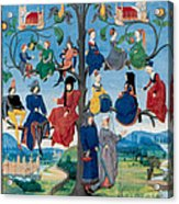15th-century Family Tree Acrylic Print by Photo Researchers