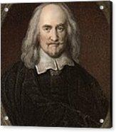 1660 Thomas Hobbes English Philosopher Acrylic Print by Paul D Stewart