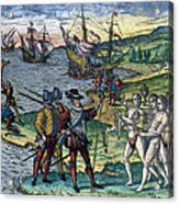 Christopher Columbus Acrylic Print by Granger