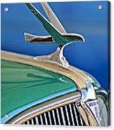 1935 Hudson Touring Sedan Hood Ornament Acrylic Print by Jill Reger