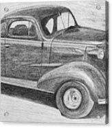 1937 Chevy Acrylic Print by Kume Bryant