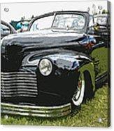 1940 Chevy Convertable Acrylic Print by Steve McKinzie