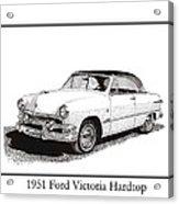 1951 Ford Victoria Hardtop Acrylic Print by Jack Pumphrey