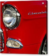 1955 Chevrolet 210 Headlight Acrylic Print by Jill Reger