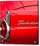 1955 Ford Thunderbird Acrylic Print by David Patterson