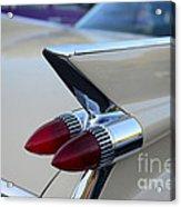 1958 Cadillac Tail Lights Acrylic Print by Paul Ward