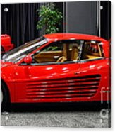 1987 Ferrari Testarossa . 7d9399 Acrylic Print by Wingsdomain Art and Photography