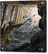 19th-century Coal Mining Acrylic Print by Sheila Terry