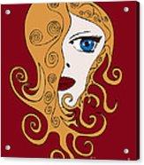 A Woman Acrylic Print by Frank Tschakert