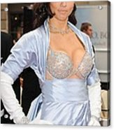 Adriana Lima At In-store Appearance Acrylic Print by Everett