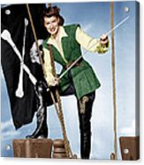 Against All Flags, Maureen Ohara, 1952 Acrylic Print by Everett